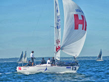 J/24 sailing at North Americans- Helly Hansen- John Mollicone