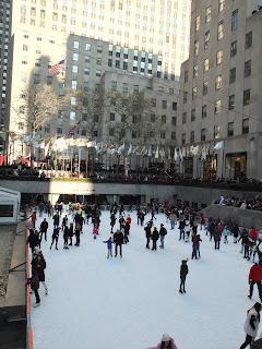 ニューヨークのスケートリンク