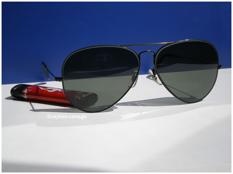 Ray Ban black aviator 62mm