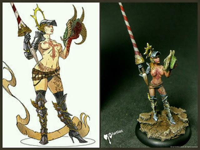 Gilded Saint - Dragon Hunter Ax Faction Miniatures