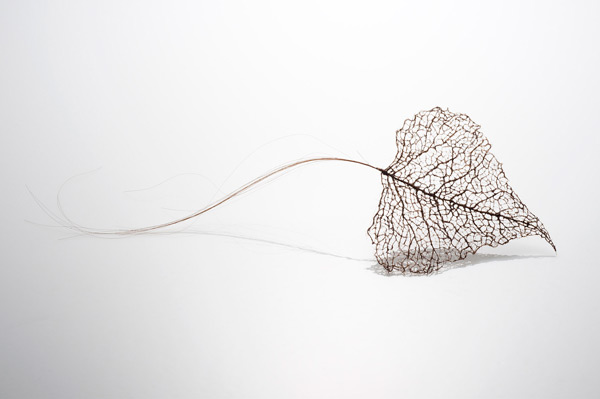 leaves 4 Awesome Tree Leaves Made Of Stitched And Knotted Human Hair By Jenine Shereos [PICS]