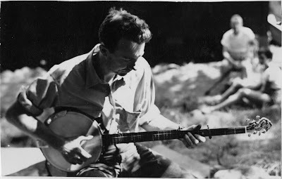 Pete Seeger at Camp Woodland, Phoenicia, New York, circa 1940s