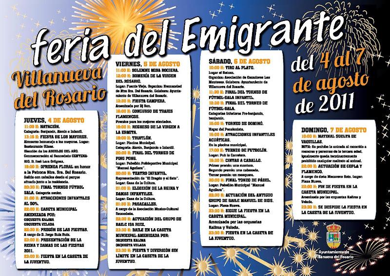 Actividades de la Feria del Emigrante 2010