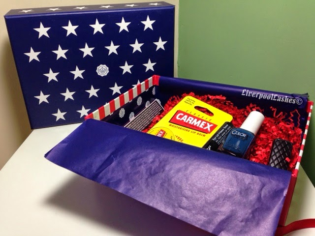 Glossybox uk july 2014 american edition stars and stripes