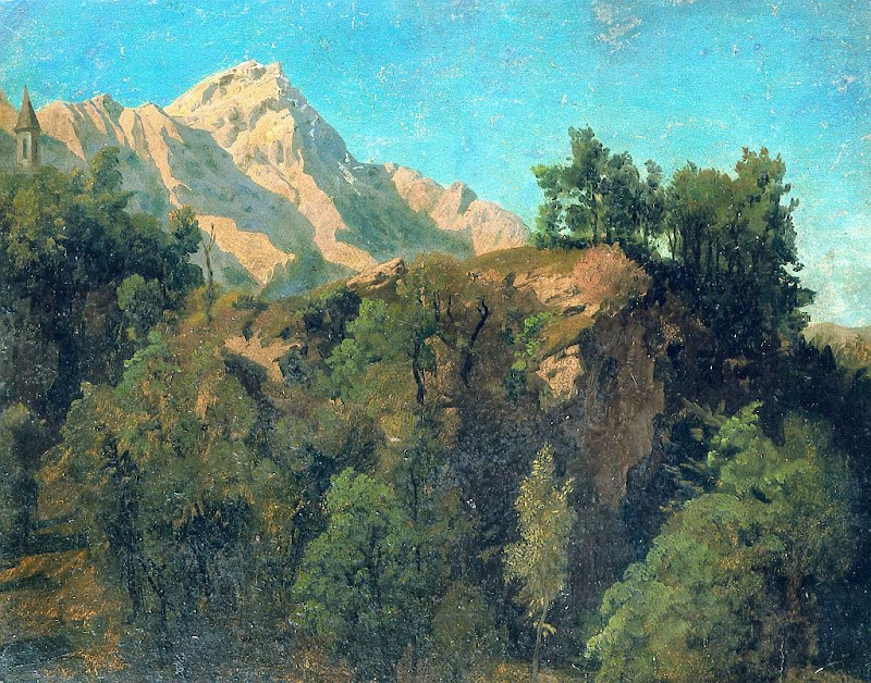Johann Wilhelm Schirmer - Felskuppe in der Schweiz