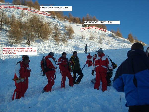 Avalanche Parpaillon, secteur Boussolenc, Amont piste des Coqs - Photo 1