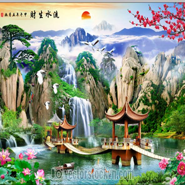 Tranh Phong cảnh sông nước.