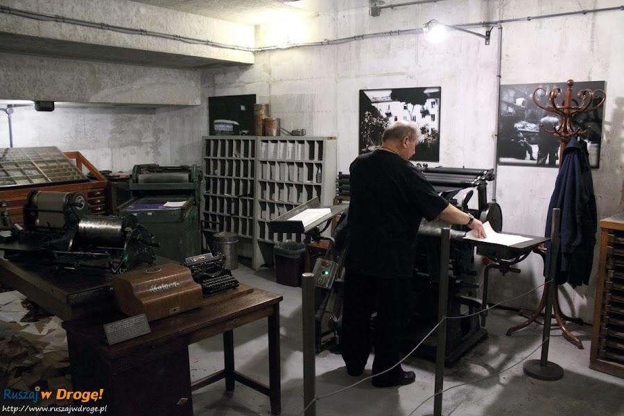 muzeum powstania warszawskiego - drukarnia powstańcza