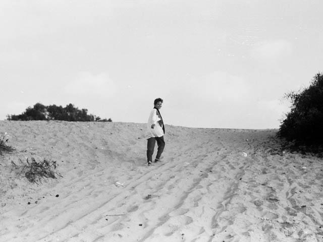 ガザの砂浜