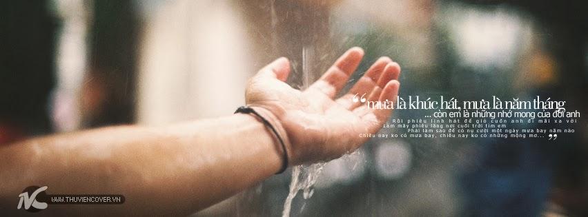Ảnh Bìa Mưa Lãng Mạn Với Những Câu Nói Hay Về Mưa