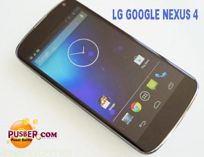 Harga dan Spesifikasi LG Google Nexus 4 | pusber