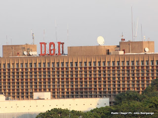 Bâtiment administrative de la direction générale des impôts(DGI) à Kinshasa. Radio Okapi/ Ph. John Bompengo
