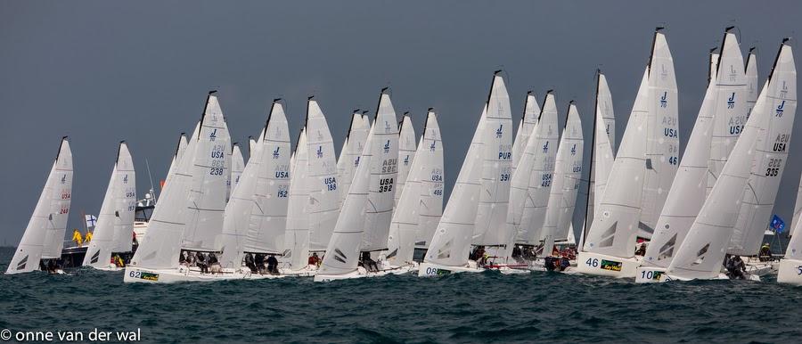 J/70 starting line off Key West
