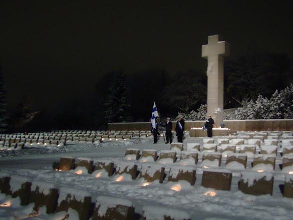 Con los soldados caídos