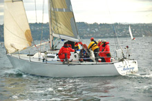 J/35 sailing Vashon Island Race in Seattle
