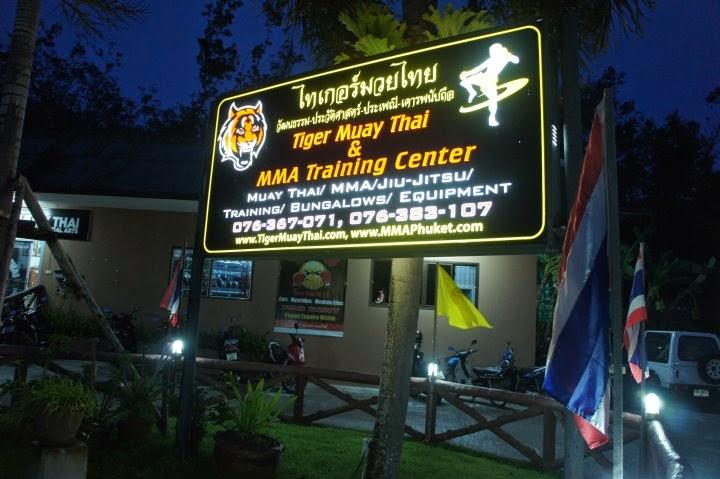 Tiger Muay Thai front sign