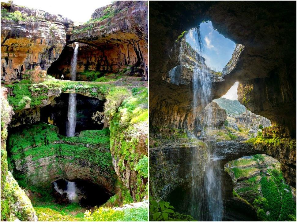 Баатара, Ливан, Красивые водопады планеты