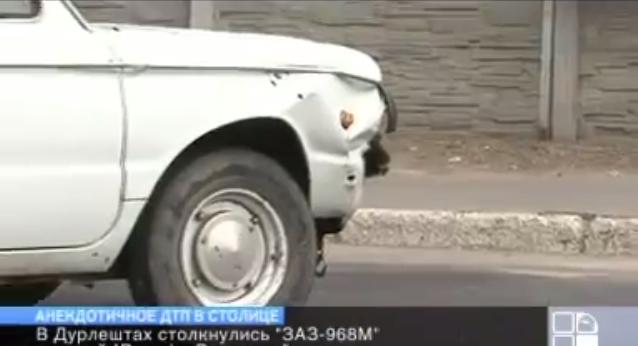 Дорожный анекдот получился! Въехал Запорожец в Порше.