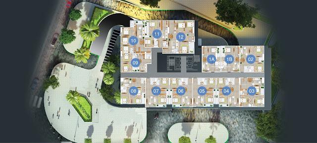 Mặt bằng căn hộ 2D FLC Star Tower