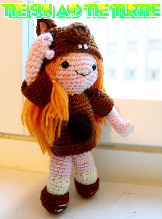 Amigurumi Squirrel Girl crochet pattern by the Sun and the Turtle