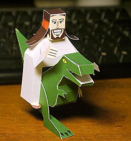 Dino Jesus Papercraft