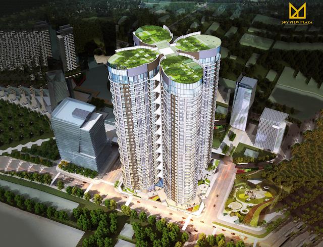 Phối cảnh dự án Sky View Plaza