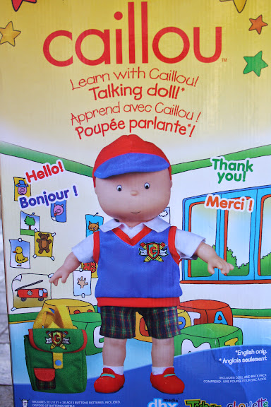 How My Little Lion Man Loved The Caillou Talking Doll {review}
