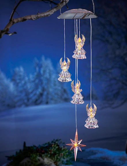 Solar Powered Hanging Angel Outside Christmas Decorations By Collections Etc