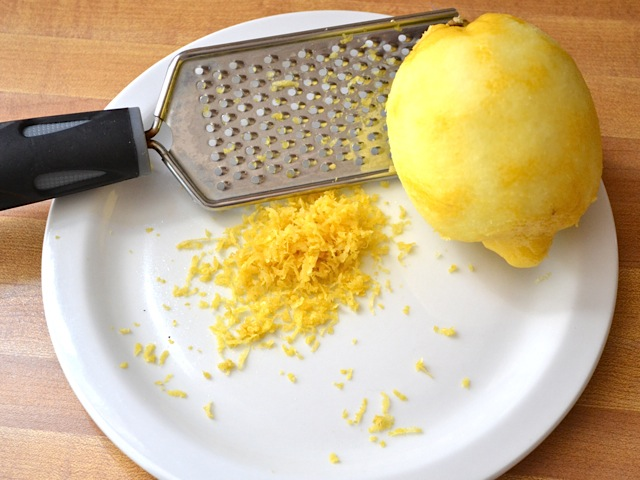 zest the lemon