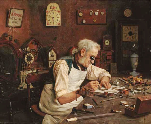 Charles Spencelayh - Time on his hands
