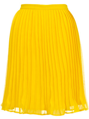 Monsoon Fusion Daffodil Yellow Pleat Skirt