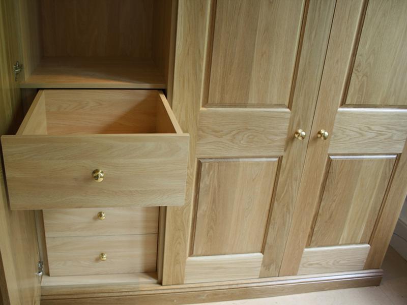 gỗ ghép sồi làm hộc tủ, cánh cửa tủ 2