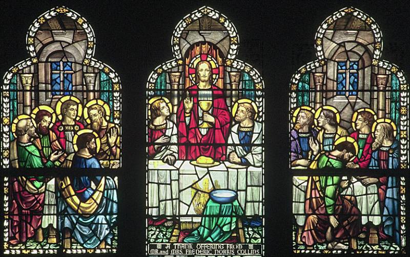 The Last Supper, Stained Glass by James Powell & Sons