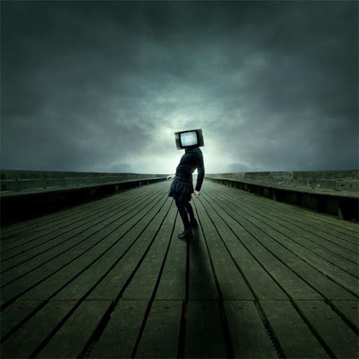 Imagem misteriosa Cabeça de TV tutorial Photoshop