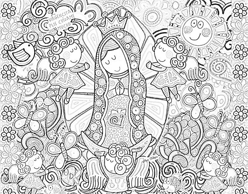 virgencita plis coloring pages - photo#23