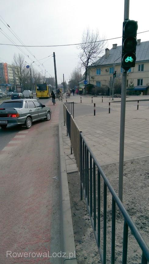 Sygnalizacja trzykomorowa dla rowerzystów. W Łodzi cały czas nie możemy się doczekać