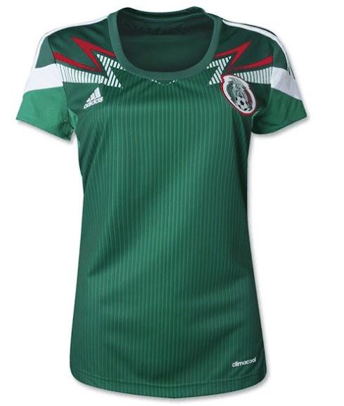 Jual Jersey Wanita Mexico Home Piala Dunia 2014