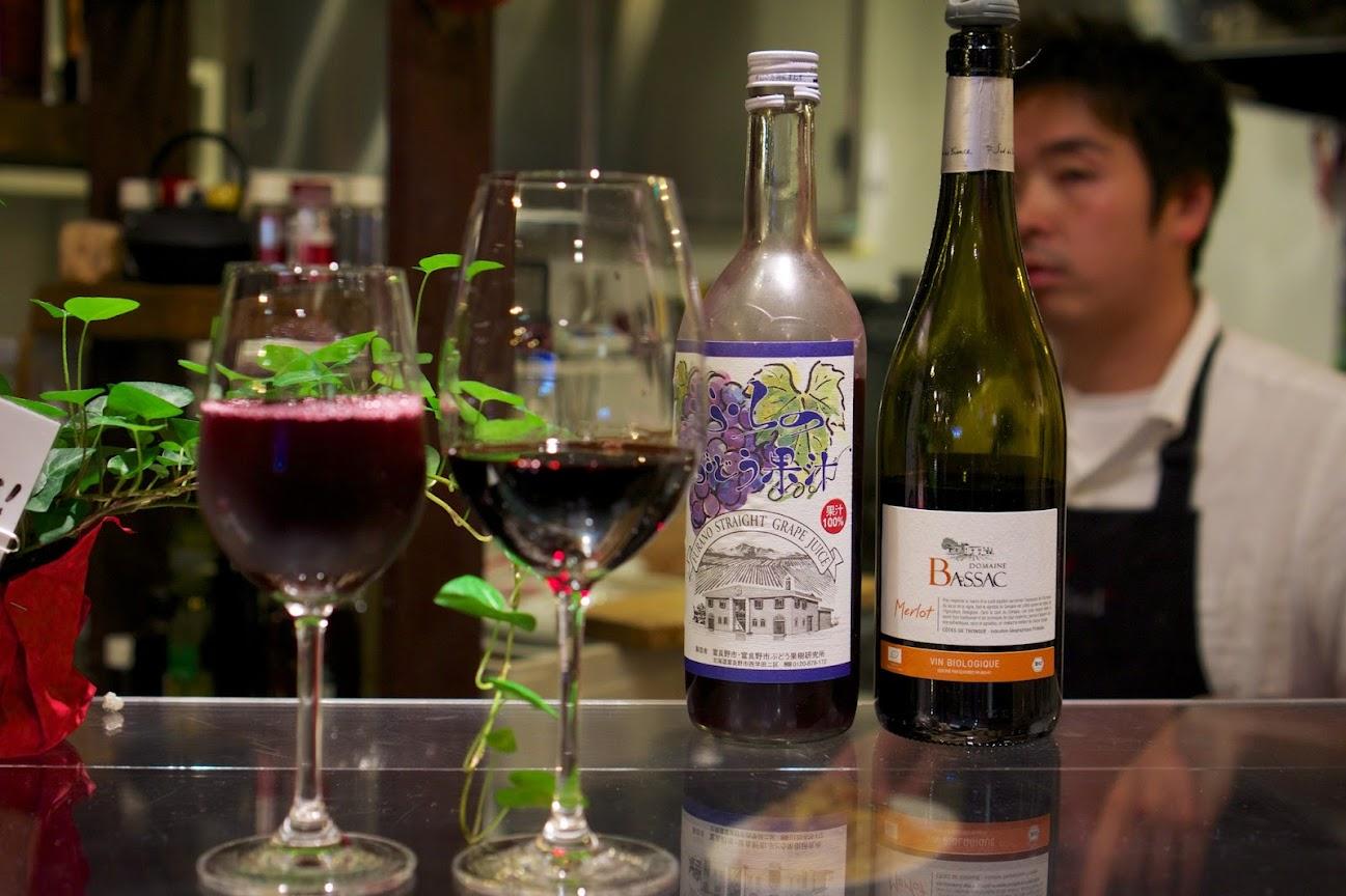 多種のグラスワイン&ジュース