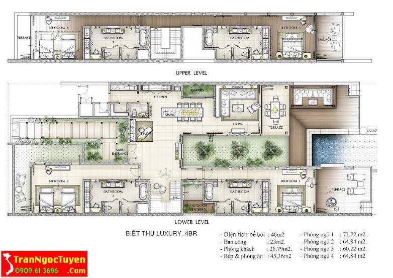 Biệt thự Vinpearl Luxury Đà Nẵng loại 04 phòng ngủ