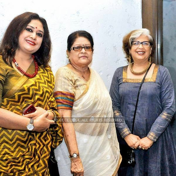 Riddhi Bandopadhyay, Kalyani Kazi & Dolly Basu during an evening dedicated to Kazi Nazrul Islam, held in Kolkata.