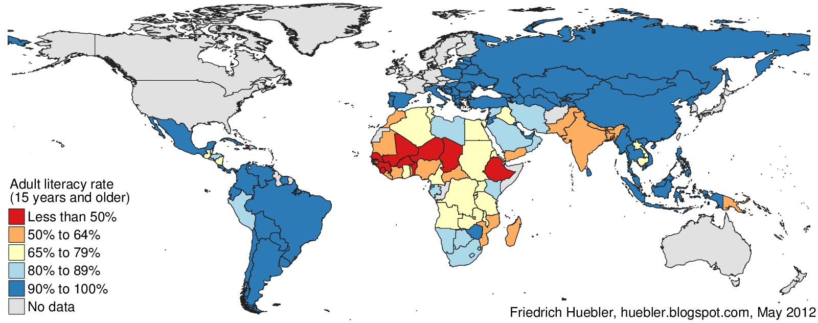 international education statistics adult and youth literacy in 2010 international education statistics
