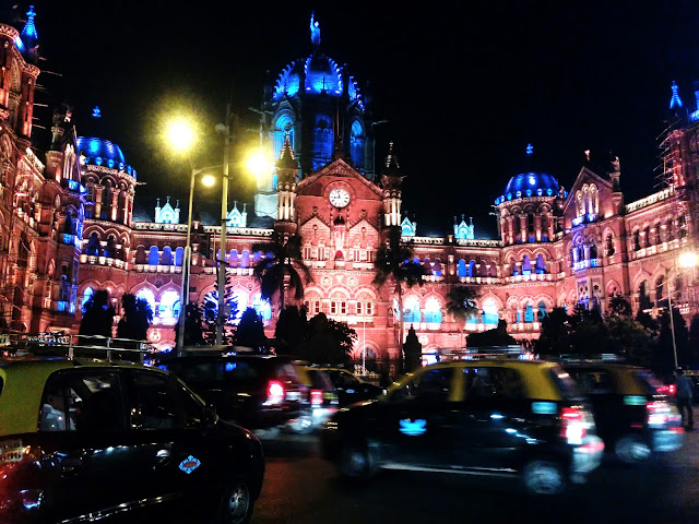 Night View of Victoria Terminus at Night