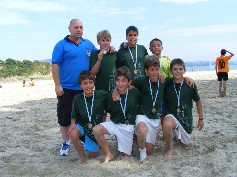 Torneo de Fútbol Playa Ares 2012. Bankia Campeón Alevín.