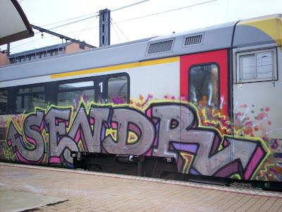 SENDR graffiti