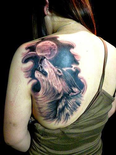 howling wolf tattoos for girls