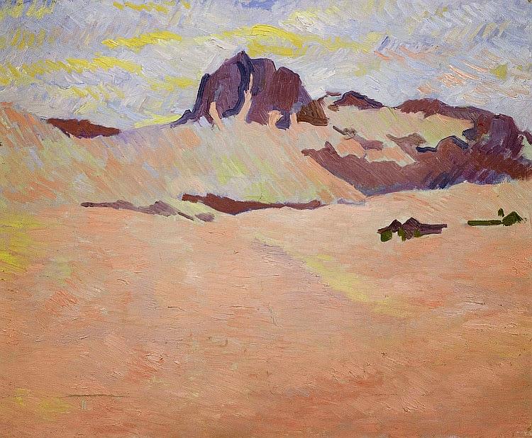 Giovanni Giacometti - Snow landscape near Maloja. Piz Lagrev. Circa 1910