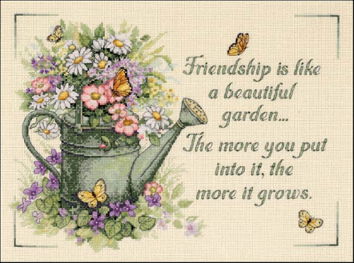Friendship Grows cross stitch patterncross stitch pattern