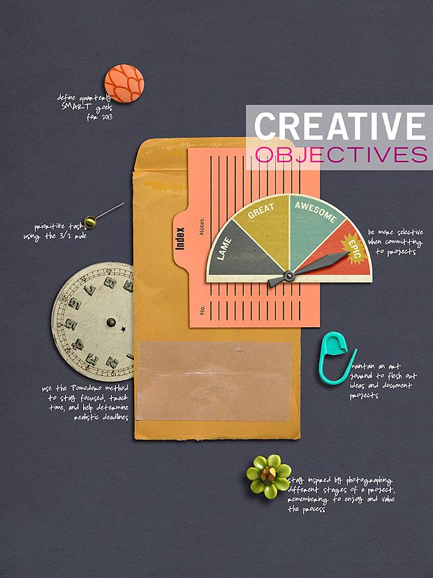 Scrapbook Layout // Handbook Album // Creative Objectives 2013