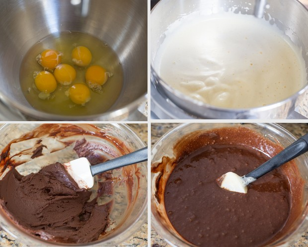 step by step photos showing how to make the batter