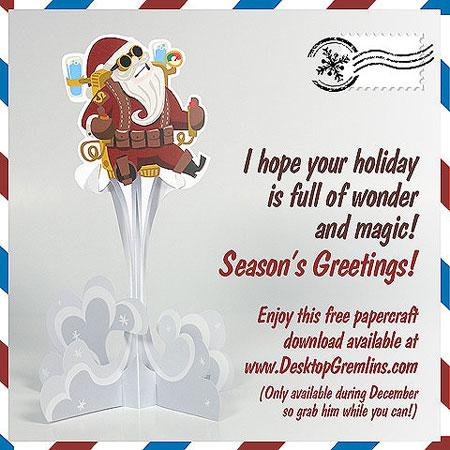 Steampunk Santa Claus Papercraft